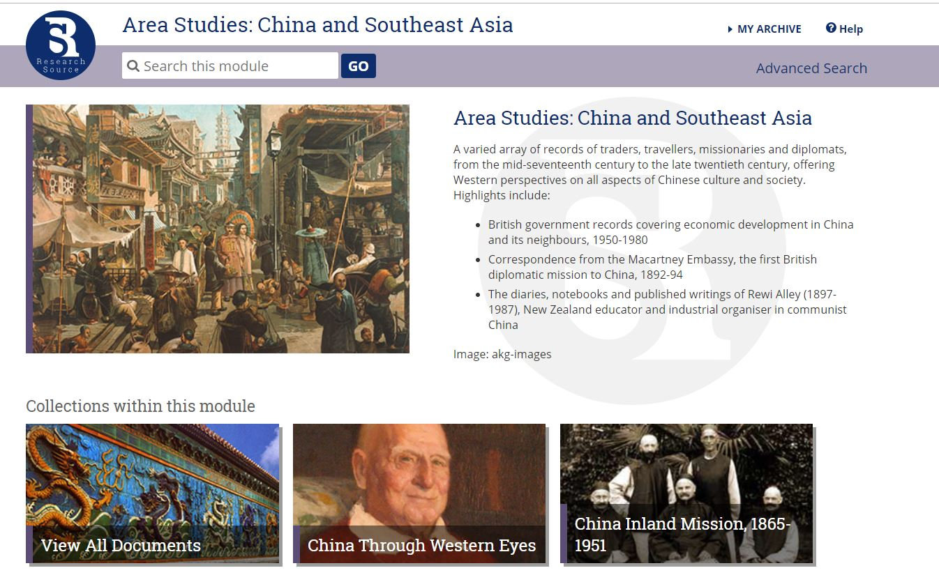 Area Studies: China and Southeast Asia