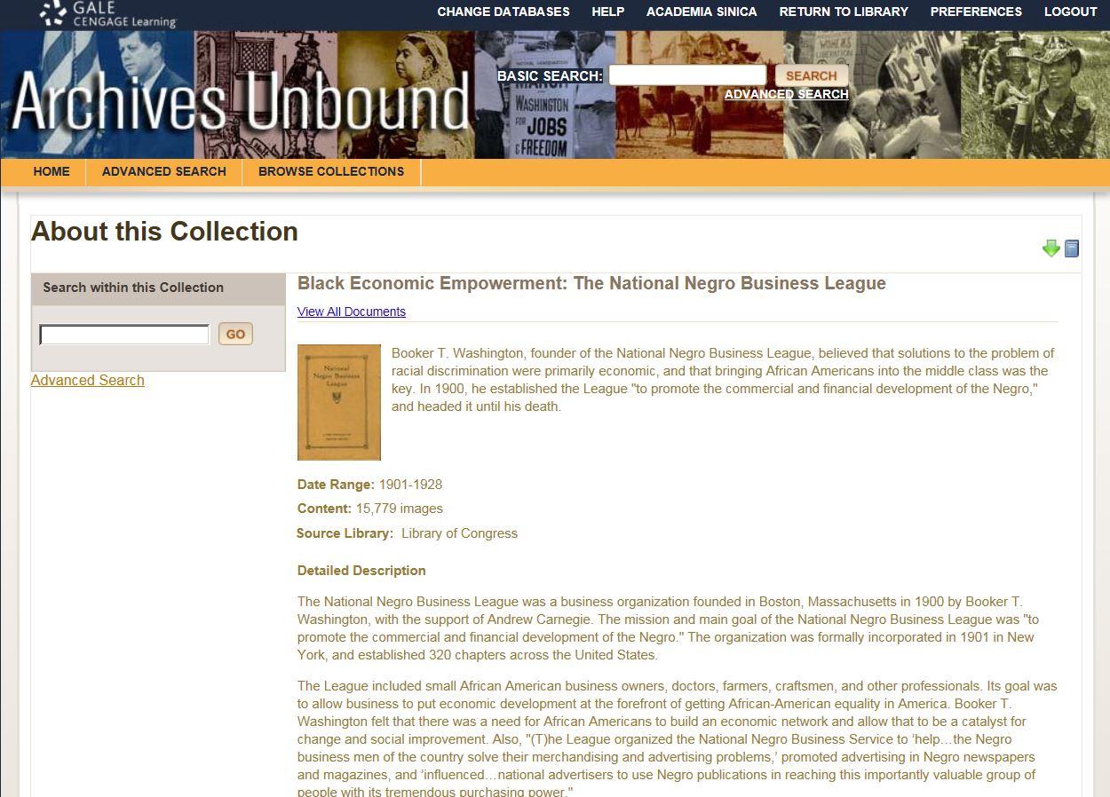 Black Economic Empowerment: The National Negro Business League