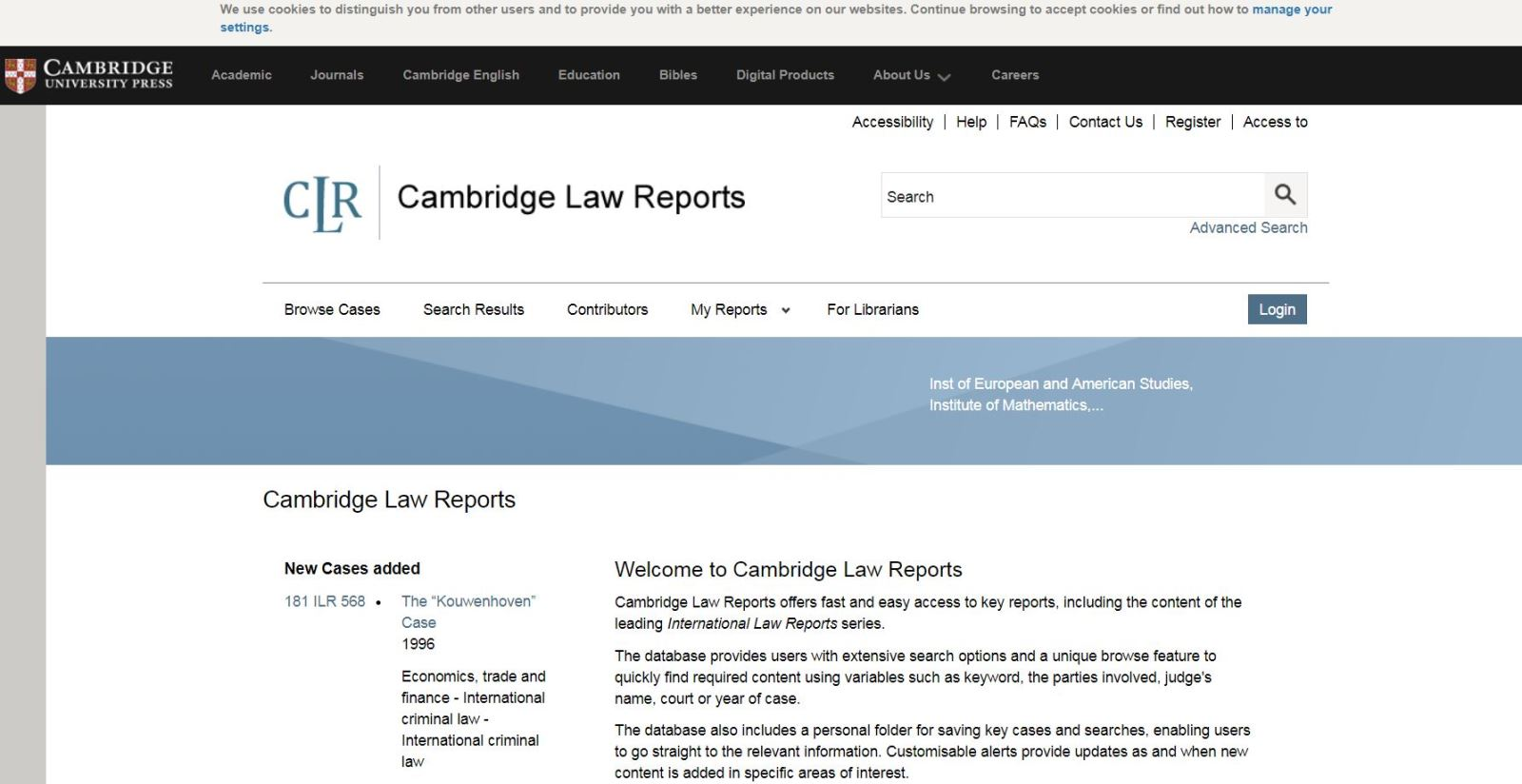 Cambridge Law Reports