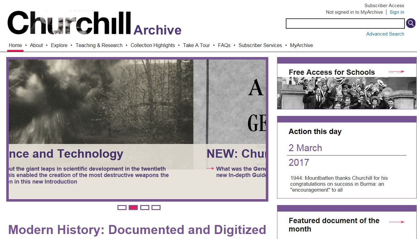 Churchill Archive Database
