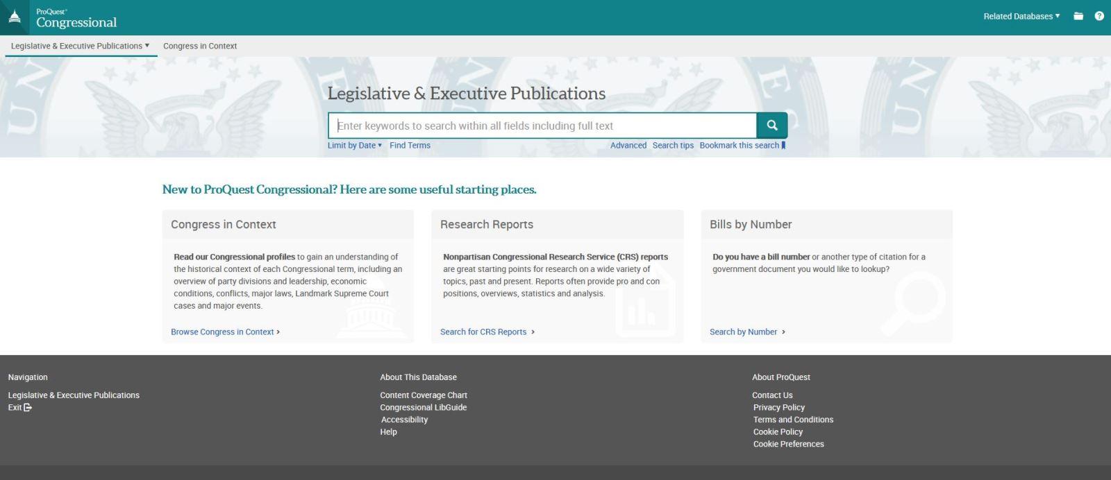 Digital U.S. Bills and Resolutions