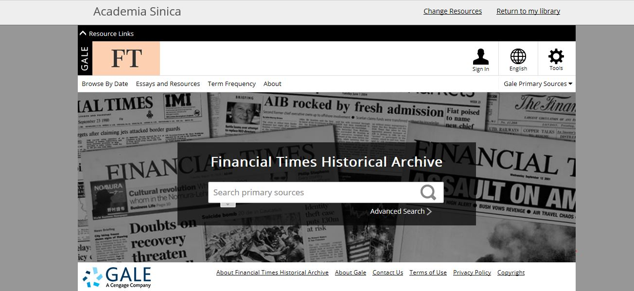 Financial Times Historical Archive Supplement 2011-2016