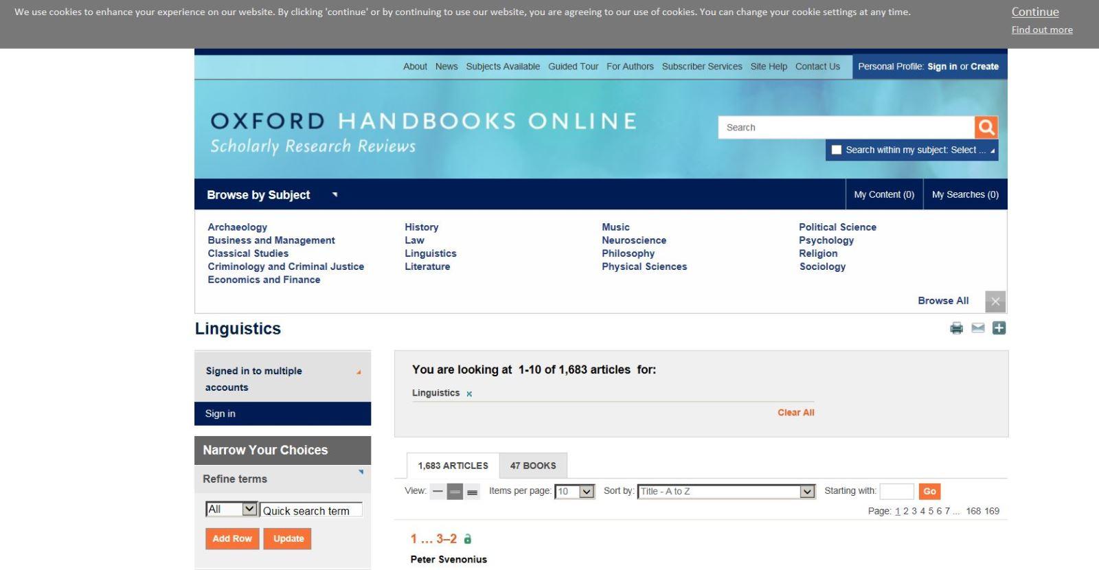 Oxford Handbooks Online - Linguistics