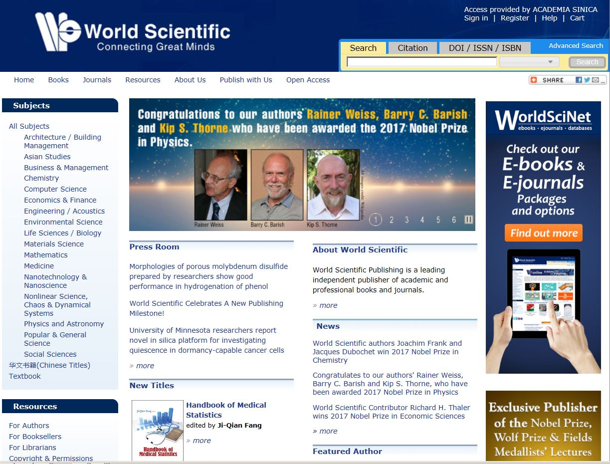 World Scientific Ebook